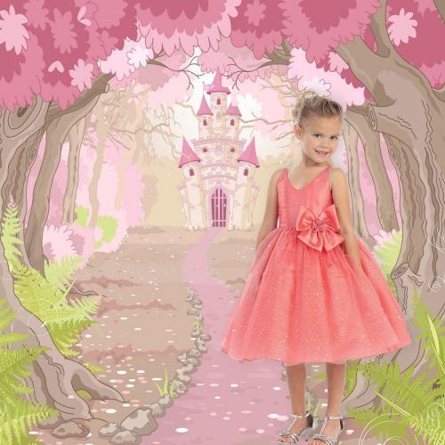 Rózsaszín kastély fotóháttér
