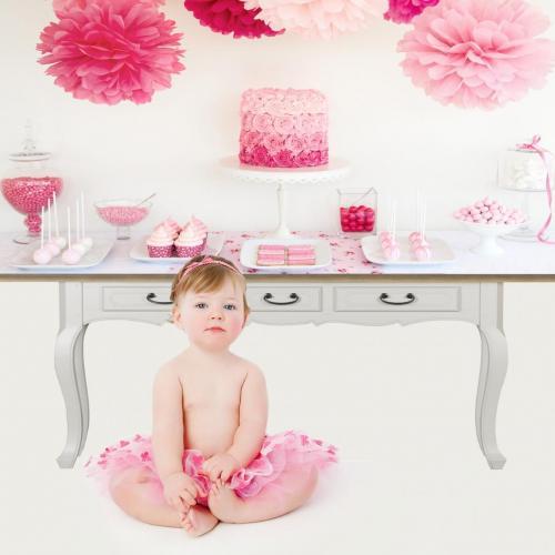Rózsaszín büféasztal fotóháttér