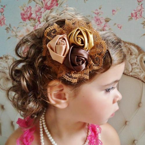 Arany-barna baba hajpánt