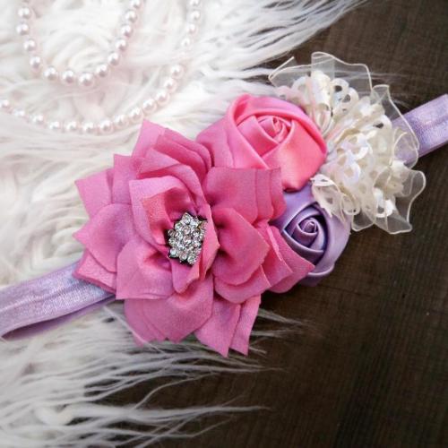 Lila-rózsaszín hajpánt