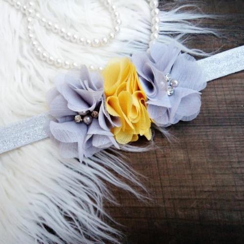 Ezüst-sárga hajpánt