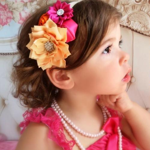 Pink-narancs hajpánt