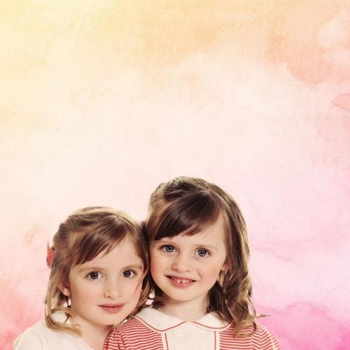 Pink-narancs vízfesték