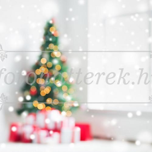 Elmosódott karácsonyi szoba