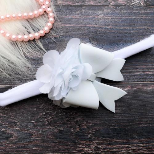 Masnis-virágos hajpánt keresztelőre