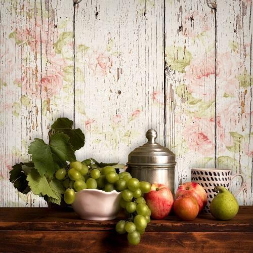 Virágos festett deszka fotóháttér